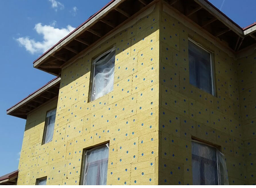 утепление каркасного дома по методу мокрого фасада